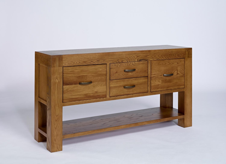 Santana Rustic Oak Hall Table